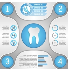 Four steps to healthy teeth vector image vector image