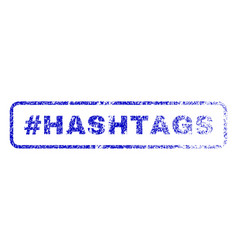 hashtag hashtags rubber stamp vector image vector image