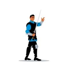 Medieval warrior knight Cartoon vector image vector image