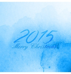 Merry Christmas 2015 creative poster design vector image
