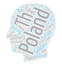 Once golden again golden poland text background vector
