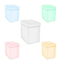 Set colorful closed unprinted boxes vector image vector image