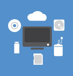 Backup Device vector image