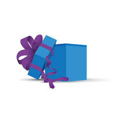 blue opened present vector image