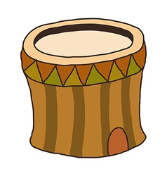 A log is placed vector image vector image