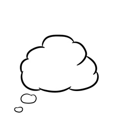 Cloud thought white of vector image vector image