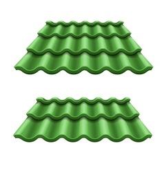 Green corrugated tile element vector image vector image