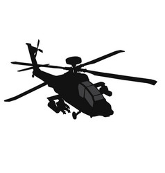 helicopter silhouette vector image vector image