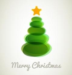 Modern Christmas tree card vector image
