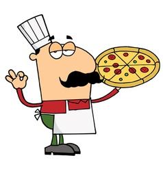 Pizza Chef Man vector image vector image