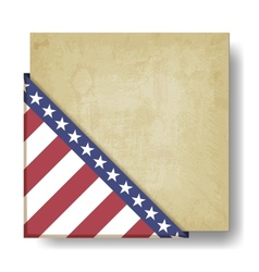 Vintage background with stripes and stars corner vector image vector image