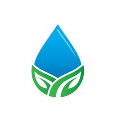 waterdrop leaf nature logo image vector image