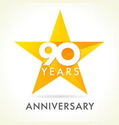 90 anniversary star logo vector
