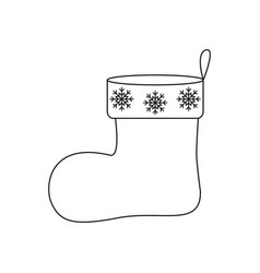 a christmas of sock icon a surprise vector image