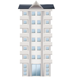 A tall condominium vector
