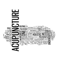Acupuncture is an example of holistic healthcare vector