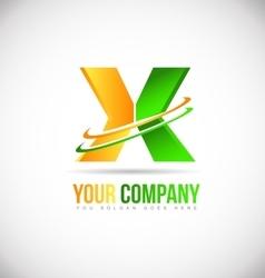 Alpabet letter x extreme logo icon design vector image