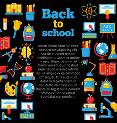 back to school colorful banner vector image