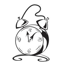 Black and white contour clock vector