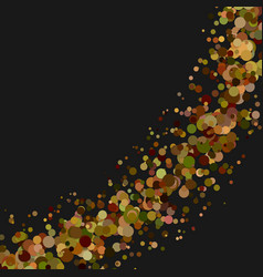 Blank abstract curved confetti background vector
