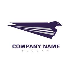 blue eagle design vector image