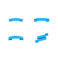 blue ribbons banners blue ribbons banners vector image