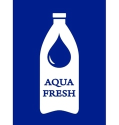 bottle with fresh water vector image
