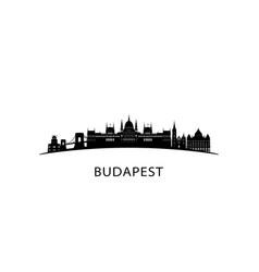 Budapest city skyline black cityscape isolated vector