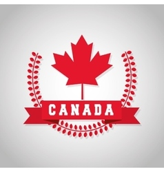 Canadas County design Maple leaf icon Wreath vector