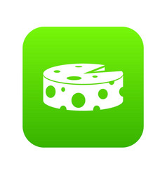 cheese wheel icon digital green vector image