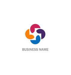 circle colored round company logo vector image