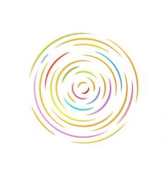 circle with color rounded lines vector image