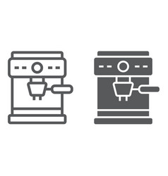 Coffee maker line and glyph icon coffee and cafe vector
