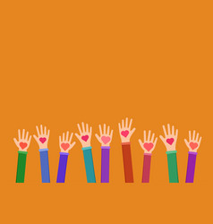 Community charitable work symbol flat vector