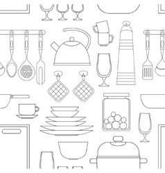 Cooking tools pattern vector image
