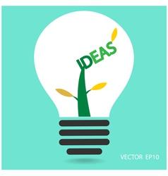 Creative light bulb sign vector
