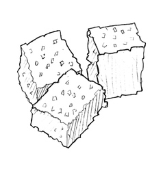 Cubs of sugar vector