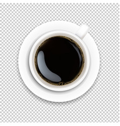 Cup with coffee and plate vector