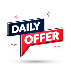 daily offer speech bubble design sales banner vector image