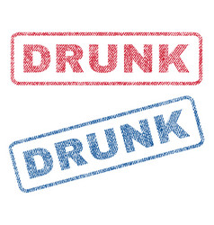 Drunk textile stamps vector