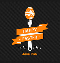 Easter menu design background vector
