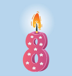 eight years celebration vector image