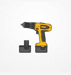 Electric cordless screwdriver image vector