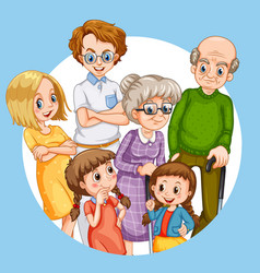 Family member cartoon character vector