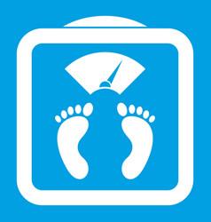 Floor scales icon white vector