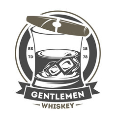 Gentleman vintage label with cigar vector