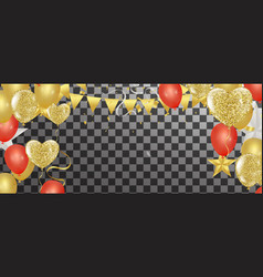 gold confetti celebration party banner with gold vector image