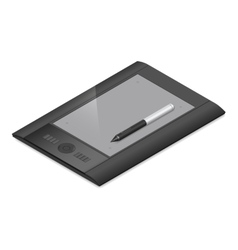 Graphic tablet detailed isometric icon vector image