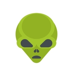 Green cartoon aliens head isolated vector image