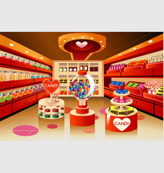 Grocery store candy section vector